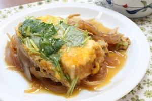 豆腐カツの柳川風